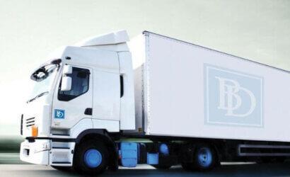 white truck, brødrene dahl logo,