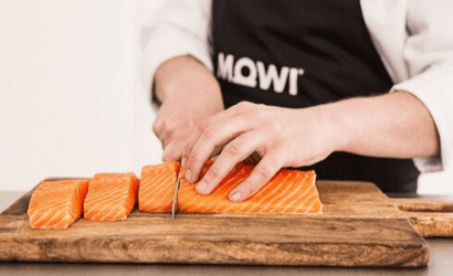 Fish cutting from Mowi