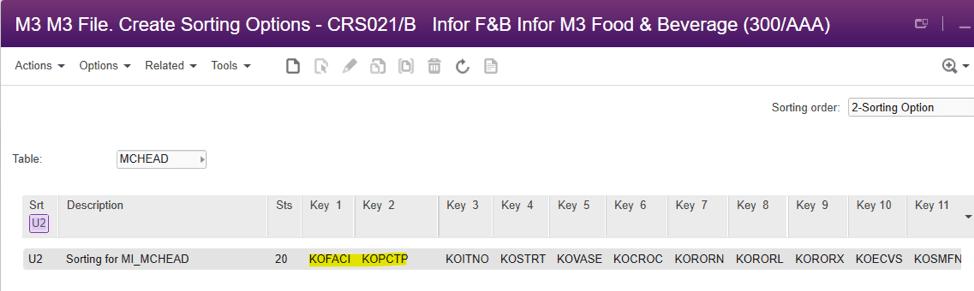 M3 file sorting