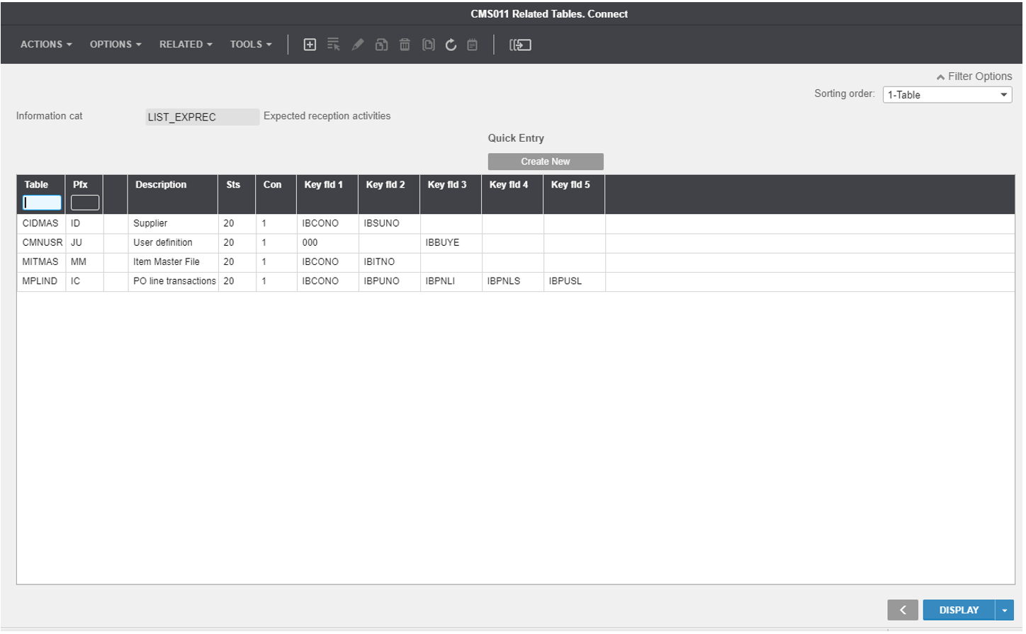 Infor M3 example